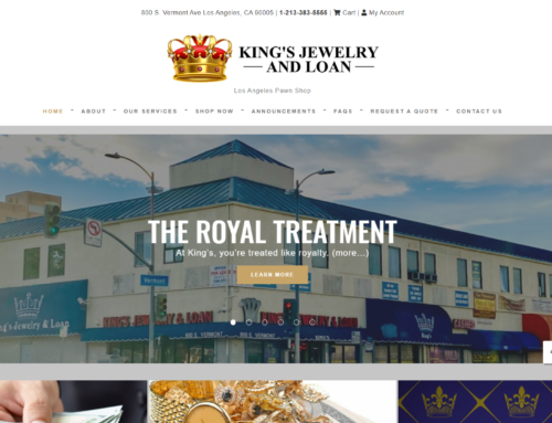 How We Designed a Website For One of Biggest Pawn Shops in LA!